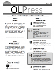 OLPNA Newsletter_page one